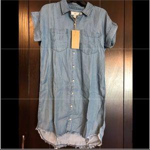 Ladies denim shirt dress size small NWT